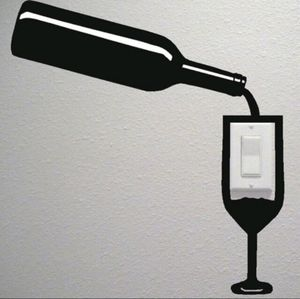 New Wine and Glass Wall Decor Stickers